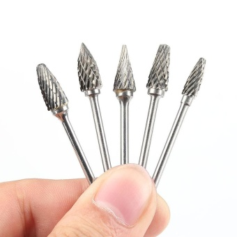 Harga 10 Pcs Polishing Burs Dentistry Tungsten Steel burs DentalEquipment Mixed Burs - intl