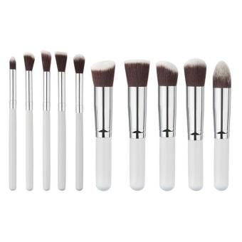 10Pcs Mini Cosmetic Makeup Tool Brushes Set Powder Eyeshadow Brush Kit - intl