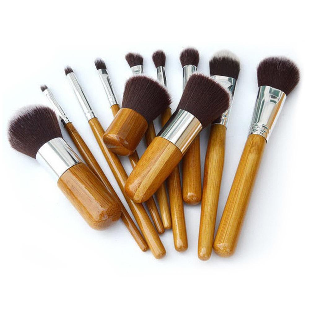 11 Buah Kuas Rias Profesional Kuas Kosmetik Alat Kit Set Foundation .
