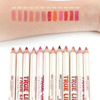 12 Warna Waterproof Matte Tahan Lama Garis Bibir Lipstik Pen Set-Intl