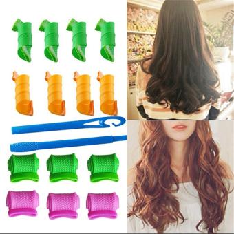 Harga 18 Buah Set Alat Pengeriting Rambut Keriting Rambut Styling DiseduhSendiri Lingkaran Spiral Ajaib Rol (International) Murah