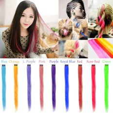 "20"" 50cm Fashion Colored Clip in Hair Extensions Beauty Salon Hair Wigs Cosplay - intl"