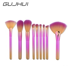 9Pcs Blending Pencil Foundation Eye shadow Makeup Brushes Eyeliner Brush - intl