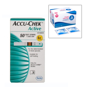 Accu Chek Active Strip Gula Darah Isi 50pcs with Alcohol