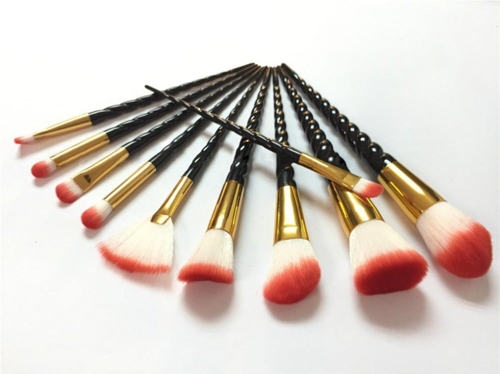 Ai Home 10pcs Unicorn Thread Makeup Cosmetic Brushes Set (Black) - intl ...