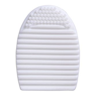 AIUEO - Brush Egg Cleaning Brush Tool Beauty Makeup Tools - White
