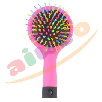 Harga AIUEO Sisir Eye Candy Rainbow Volume Brush – Pink Murah