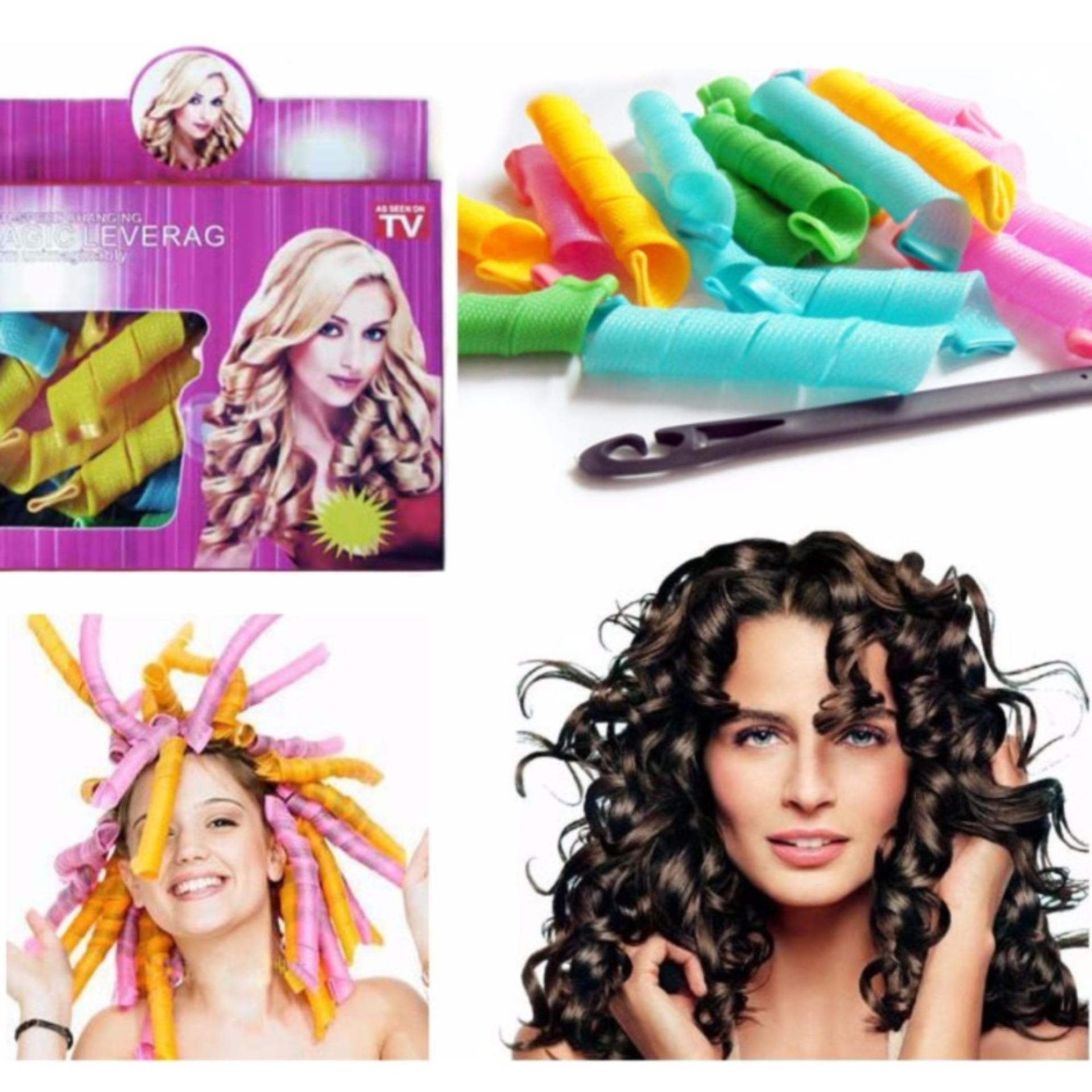 alat keriting rambut magic leverage