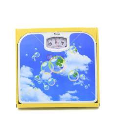 Alldaysmart Timbangan Badan Kapasitas 130 kg Motif Awan Gelembung