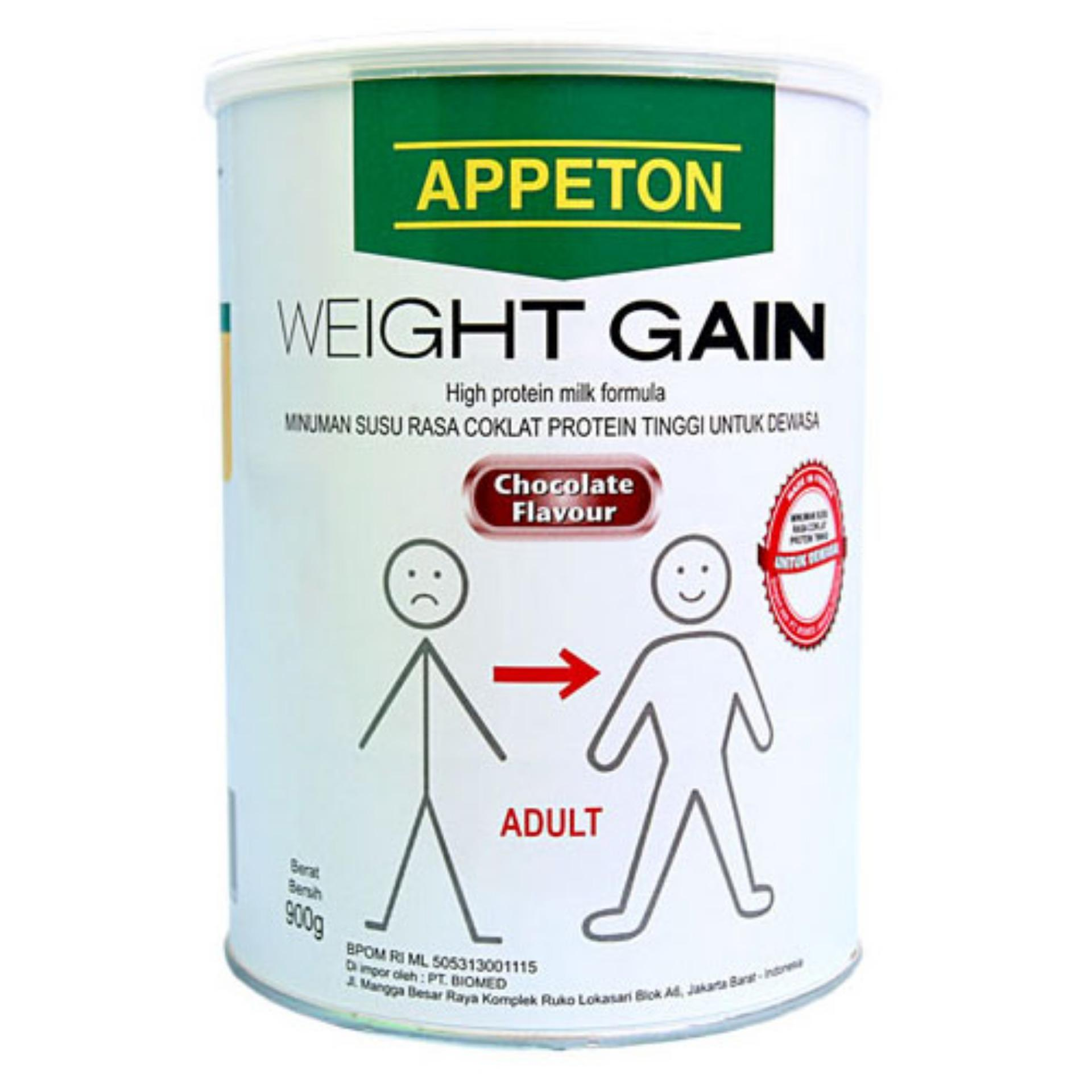 Appeton Weight Gain Susu Rasa Coklat Dewasa - 900 gram AdultsCokelat