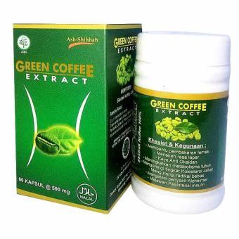 Ash-Shihhah Green Coffee Extract / Obat Herbal Pelangsing Menurunkan Berat Badan Isi 60 Kapsul