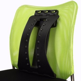 Back Magic Stretcher Lower Lumbar Massage Support Spine Posture Corrector Black Magnetic paragraph - intl