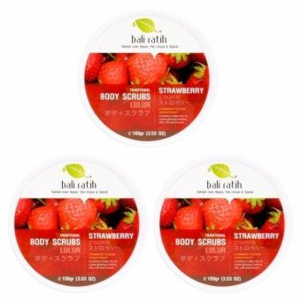 Bali Ratih - Paket Body Scrub 110mL 3pcs - Strawberry