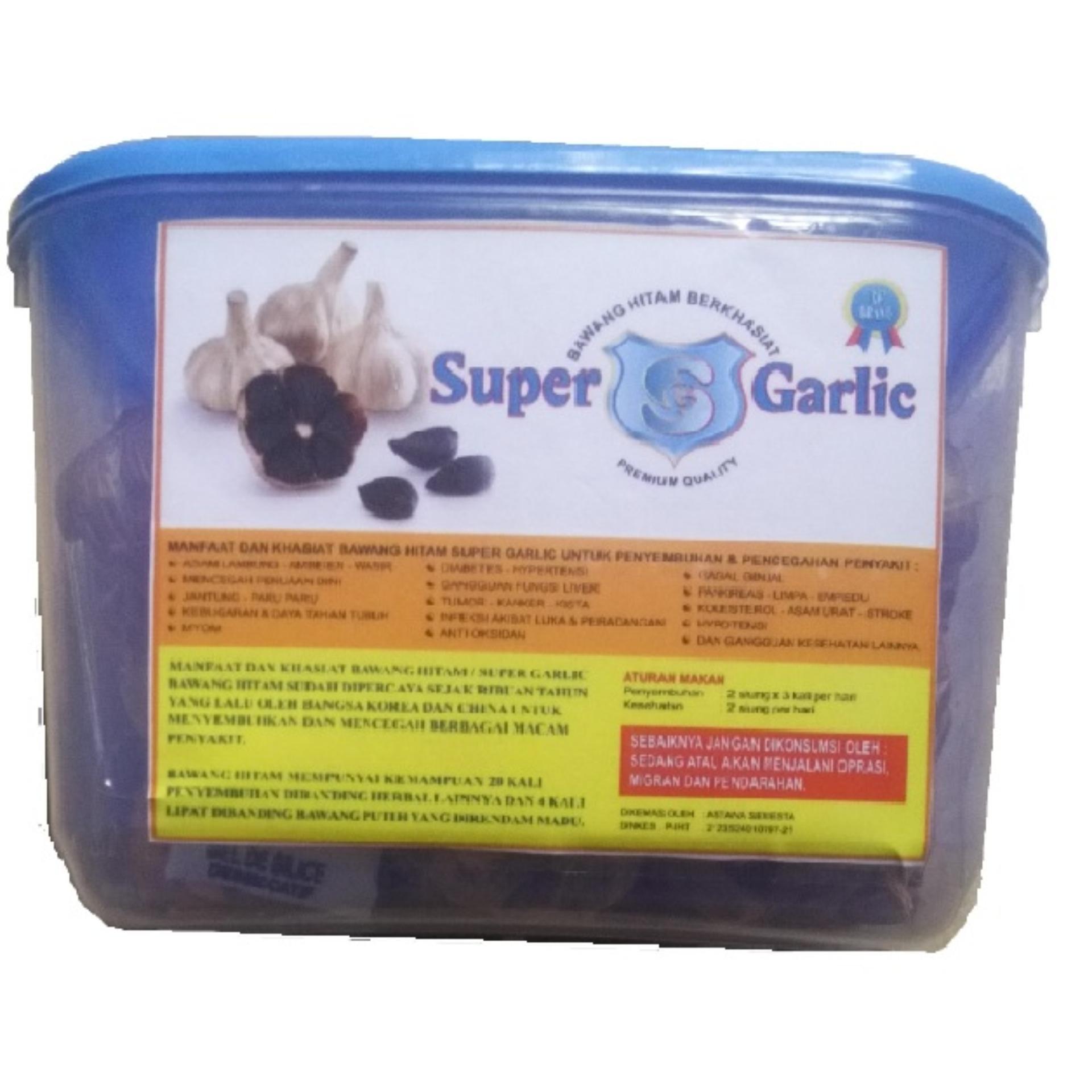 Bandingkan Simpan Bawang Super Garlic Hitam Herbal Black Tunggal 500 Gr Alami 500gr