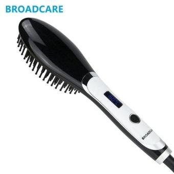 Harga BC-001 EU plug BROADCARE Electric comb hair straightener iron hairbrush Profesional LCD Temperature Control Straightening Irons(OVERSEAS) – intl Murah