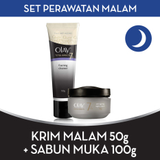 [BEST OFFER] Olay Set Perawatan Malam FREE Foaming Cleanser