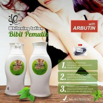 Bibit Pemutih Whitening Lotion Pemutih Badan BPOM 100ml - 1 Pcs + Free Ikat rambut Polkadope