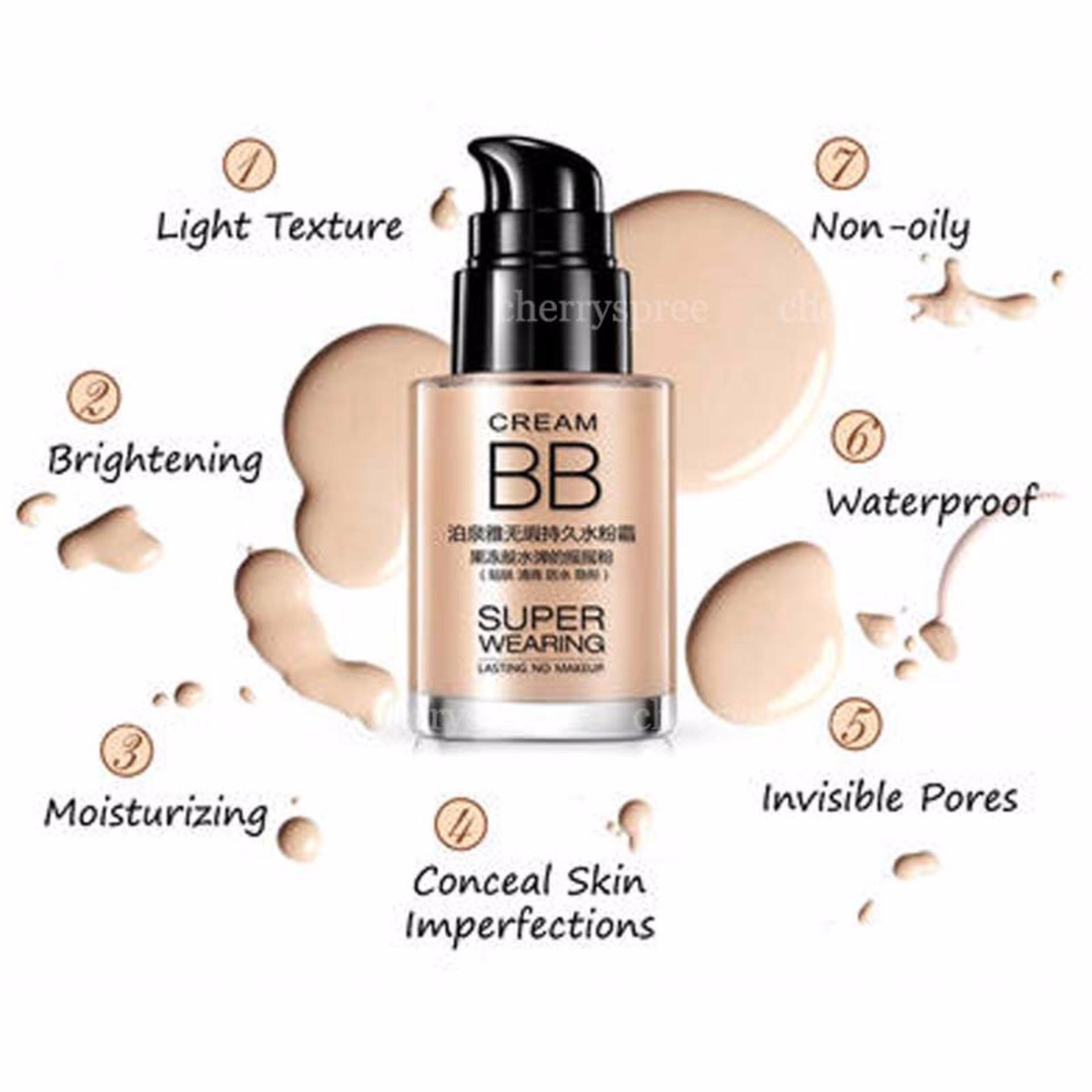 Bioaqua Super Wearing Lasting Bb Cream 30ml Putih Daftar Harga No 3 Dus Air Cushion Concealer Foundation Make Up Kulit Muka Waterproof Long