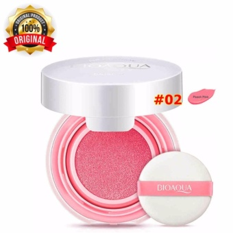 Varian 02 [Peach Pink] - Bioaqua Blush On Cushion Smooth Muscle Flawless - Perona Pipi