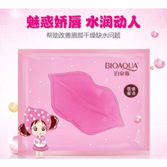 Bioaqua Collagen Nourish Lips Mask . Masker Bibir Pink Bioaqua 2pc