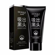 BIOAQUA Masker Charcoal Black Mask - Masker Wajah Arang Aktif Alami Original Pengangkat Komedo