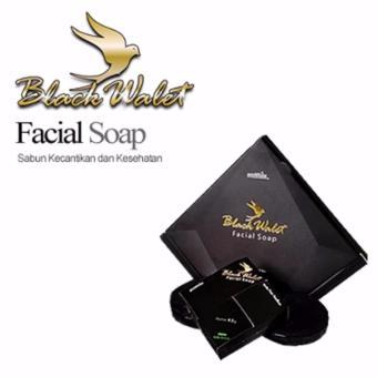 Black Walet Facial Soap - Sabun Pembersih Wajah Alami - Paket Isi 3 Pcs