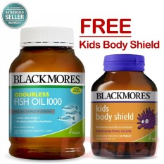 Blackmores Odourless Fish Oil 1000 BPOM Kalbe - 400 Kapsul Free Kids Body Shield