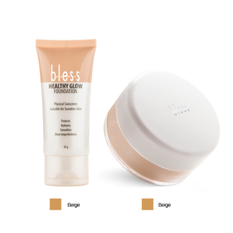 Bless Healthy Glow Foundation Beige - Bless Acne Face Powder Beige
