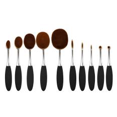 BolehDeals Alat Kosmetik 10 Buah Kuas Makeup Bentuk Sikat Gigi For Sebuah Alas Bedak Tabur/krim Alis Bibir