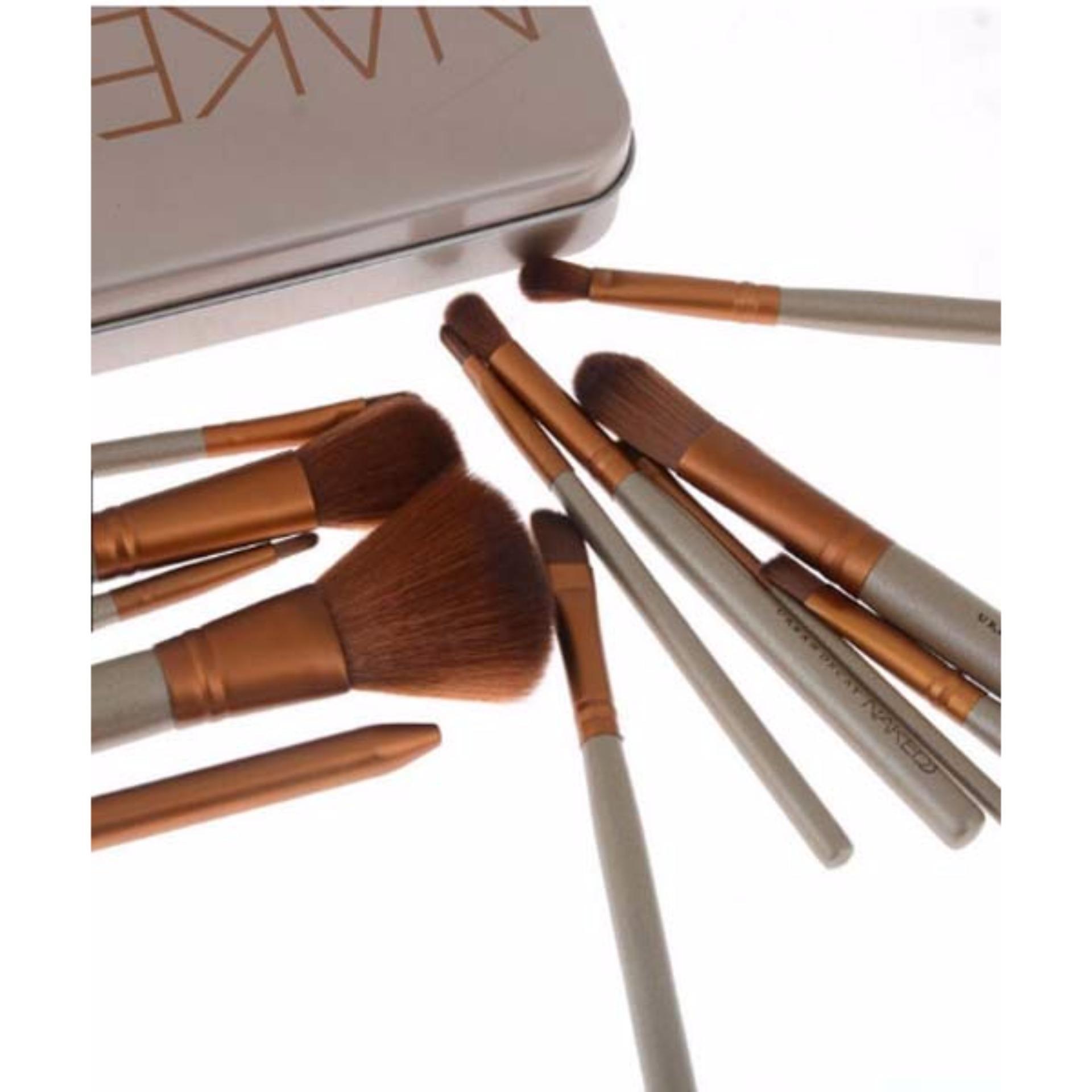Kuas Make Up Naked3 Set 12pcs Kemasan Kaleng Makeup Brush Daftar Hello Kitty 7 Pcs Nake 3 Isi 12