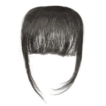 Cocotina wanita menawan gadis pinggiran rambut poni lurus tipis ekstensi  dengan jepit - Hitam 1939b614cb