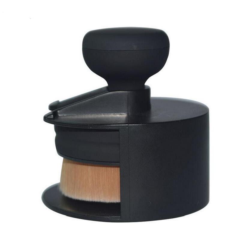 ... Coshine O! Circle Oval Falt Brush Style Foundation Makeup Air Brush Loose Powder Synthetic Hair ...