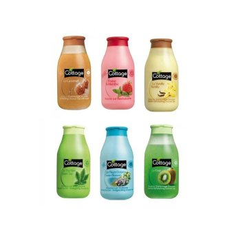 Cottage Shower Gel Mini 50ml Paket (Isi 6 Botol) - Kulit Halus Lembut Harum Sabun Mandi Shower Gel