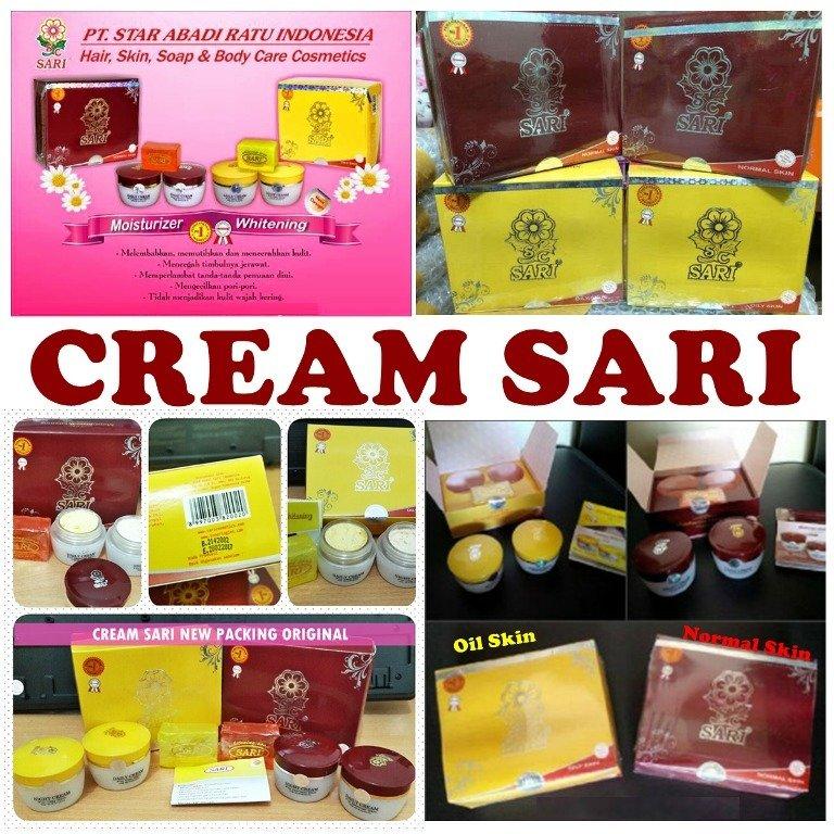 Cream Sari Moisturizer Whitening Cream untuk Wajah Normal ...