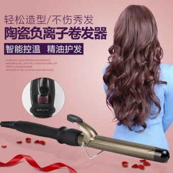 Curl hair stick the porcelain and ceramics 25 mm curling iron not harm  generate flat iron 48ff7dc31a