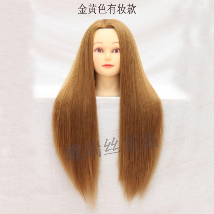 Dapat digulung kepala panas cetakan salon rambut asli manekin kepala kepala d167402095