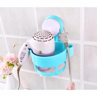 Dapur Bunda Hair Dryer Holder / Rak Hairdryer Tempat dan GantunganHair Dryer - BIRU