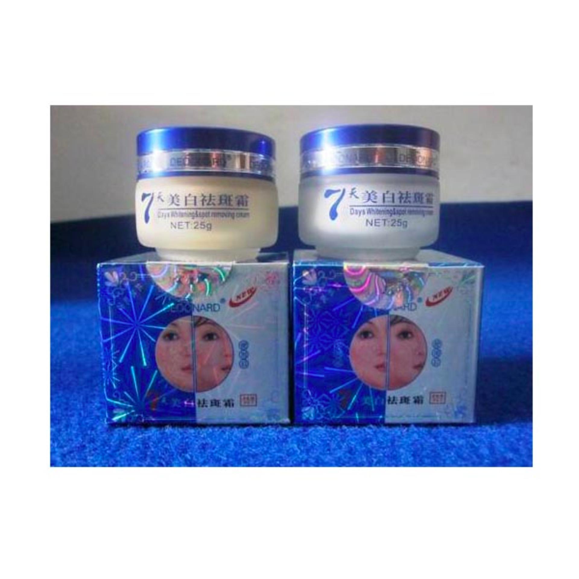 Deoonard Paket Blue 7 Days Cream Pencerah Wajah dan Anti Jerawat Flek Hitam ...