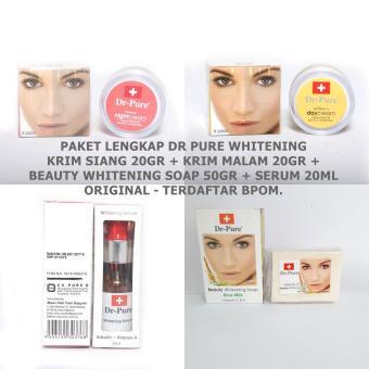 Dr Pure Paket Cream+Whitening Soap+Serum Original Terdaftar BPOM - 4 Item