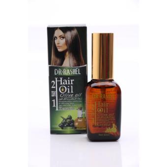 Dr Rashel - 2 In 1 Hair Serum Oil Olive Oil + Keratin (Rashel Hijau)