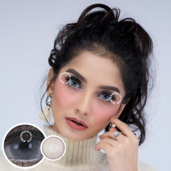 Dreamcolor1 Nobluk Grey Softlens - Minus 2.00 + Gratis Lenscase