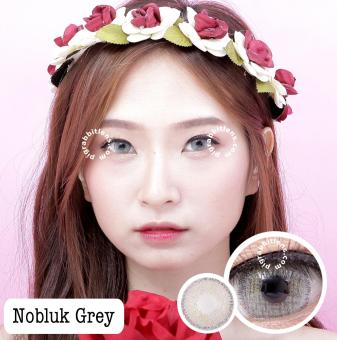 Dreamcolor1 Softlens Nobluk - Grey - Minus 0.50 + Gratis Lens Case. Pitchy Brown: Sweety Plus Colored Contact Lens