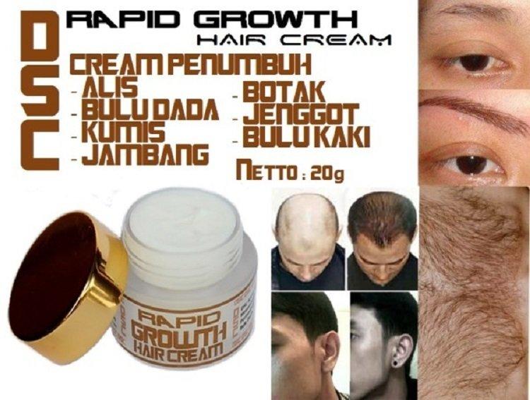 DSC Rapid Growth Hair Cream - Penumbuh Rambut atau Bulu - 20 g