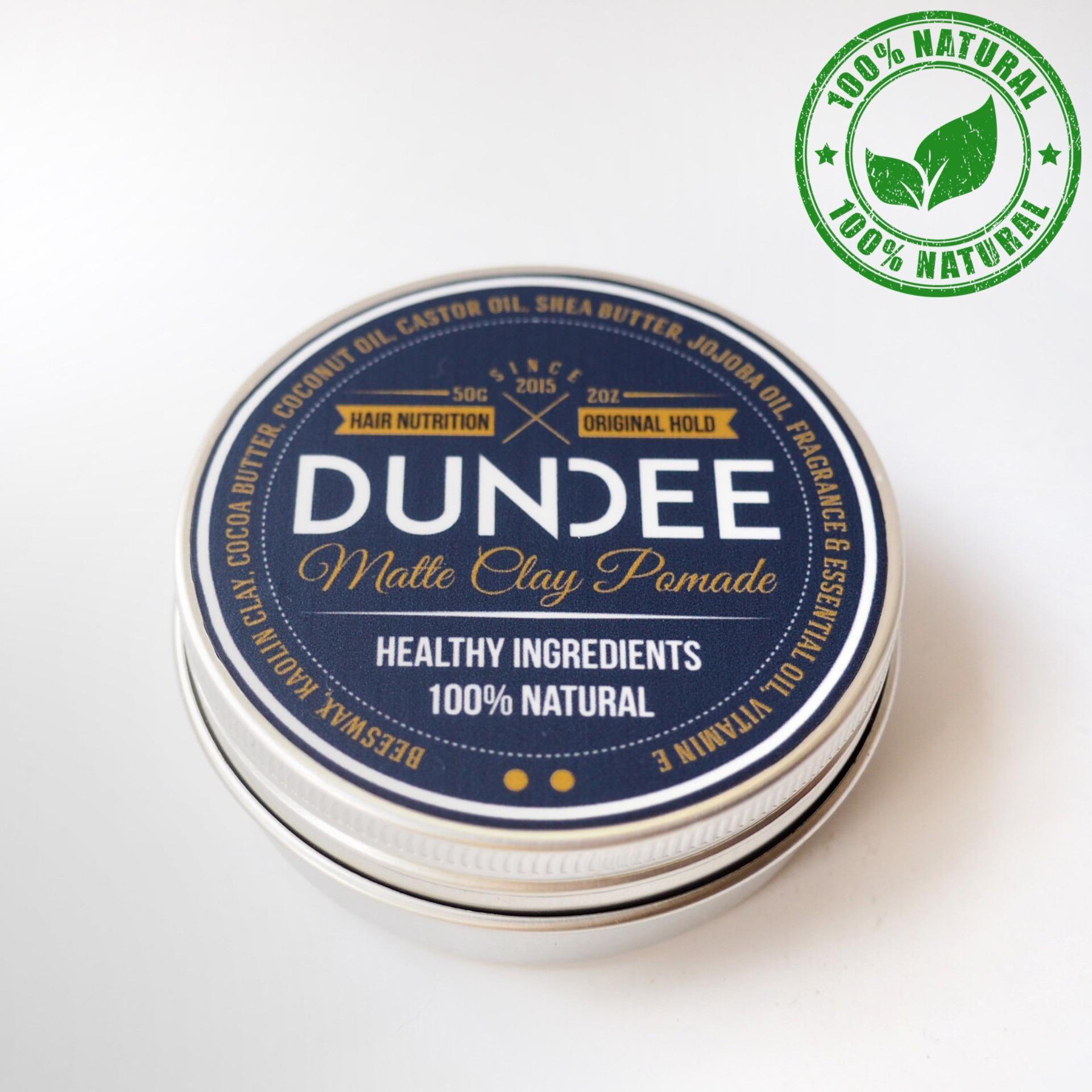 DUNDEE Matte Clay Pomade - Original Hold - 50g   100% Natural dan Organik  Sehat untuk rambut  Mencegah kerontokan
