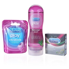Durex Play Massage 2 In 1 Intimate Lube 200 Ml & Durex Play Vibration & Durex Performa isi 3 pc - Paket Durex Ultimate Performa