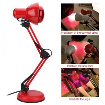 Eleatric Infrared Body Heating Lamp Muscle Pain Relief Therapy Light Massage Red - intl