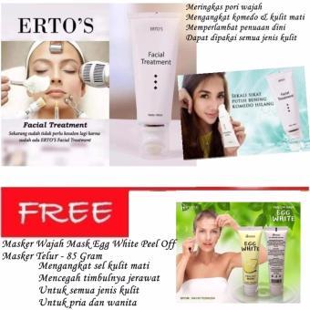 Ertos Facial Treatment 100% Asli 100ml - Masker Wajah Mask Egg White Peel Off Masker