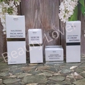 Ertos Paket 4 in 1 CC Cream + Night Cream + Facial Wash + Serum Kinclong