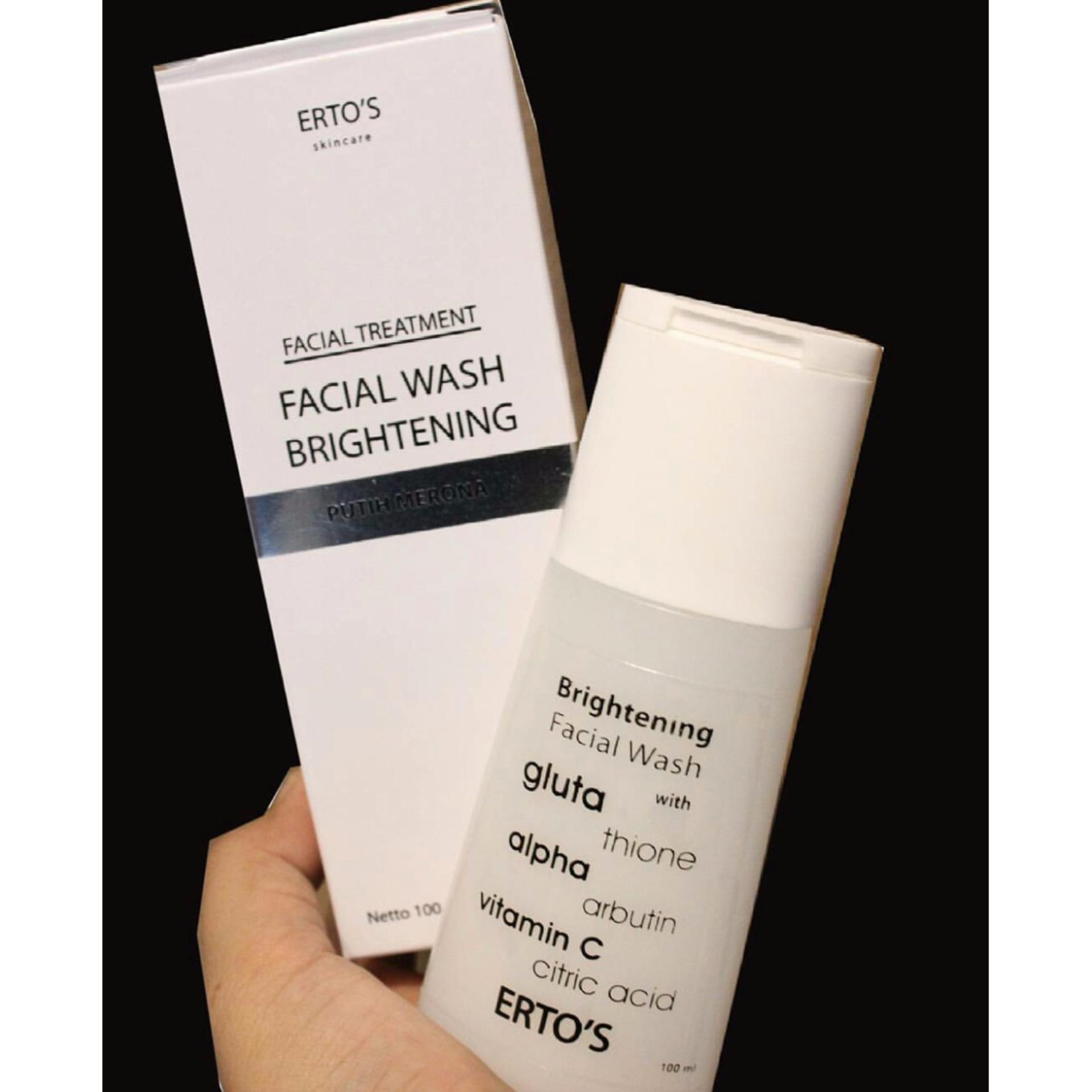 Hot Deals Ertos Paket Pemutih Wajah Aman Facial Wash Serum Kinclong Original Bpom Resmi Sk