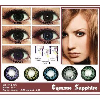 Eyezone Sapphire Softlens - Grey + Gratis Lenscase - 3